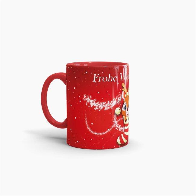 Frohe Weihnachten Glitzer.Tasse Frohe Weihnachten Rentier Glitzer