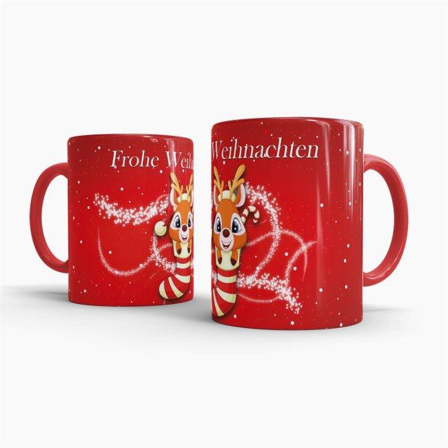 Frohe Weihnachten Glitzer.Tasse Frohe Weihnachten Rentier Glitzer 7 95