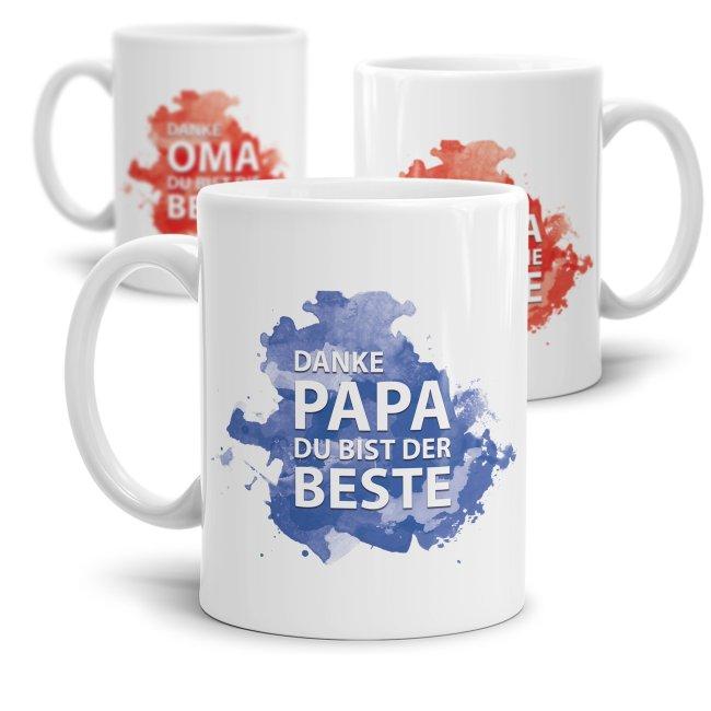 Tasse Becher Opa Beste Mama Papa Oma