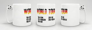 Tasse World Tour Fussball