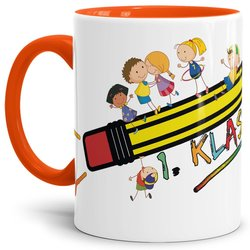 Tasse 1. Klasse Orange