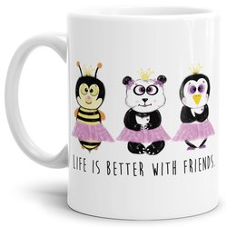 Tasse  Life is Better with Friends Weiss
