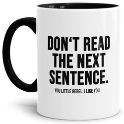 Tasse You little Rebel Innen & Henkel Schwarz