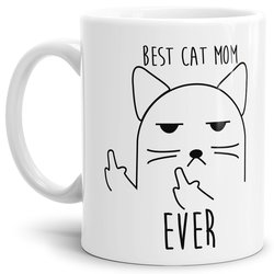 Tasse Best Cat Mom Ever Weiss