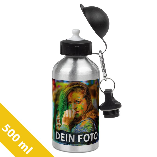 Aluminium-Trinkflasche silber 500 ml