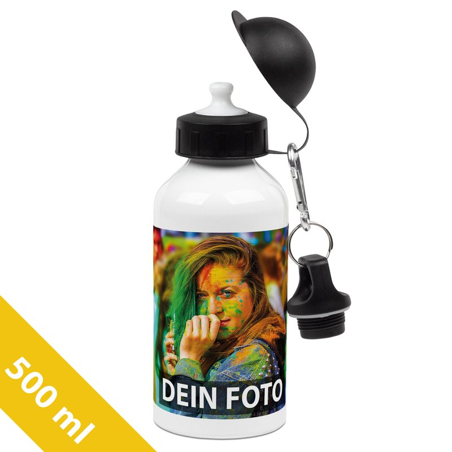 Aluminium-Trinkflasche weiß 500 ml