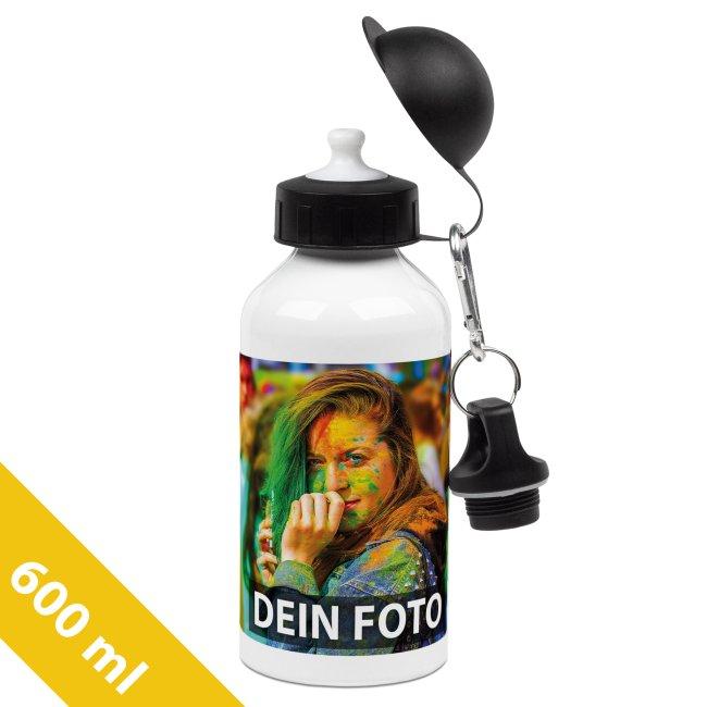 Aluminium-Trinkflasche weiß 600 ml