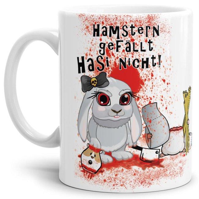 Anti-Hamster-Tasse Böses Hasi - Hamstern - Weiß